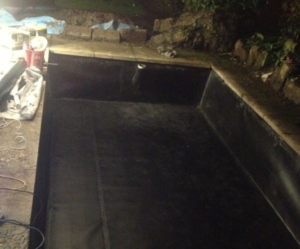 Box-welded pond liner fabricated at Liners Online factory UK