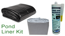 pond liner kit which includes liner, underlay and waterproof sealant
