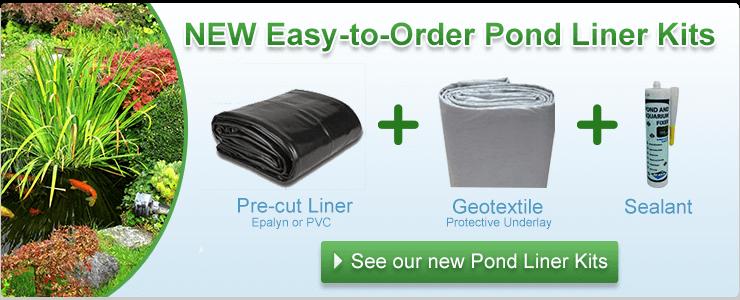 Pond liner kit banner