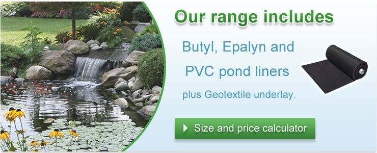 Butyl, PVC and Epalyn pond liners