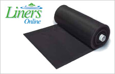 Rubber pond liner on the role