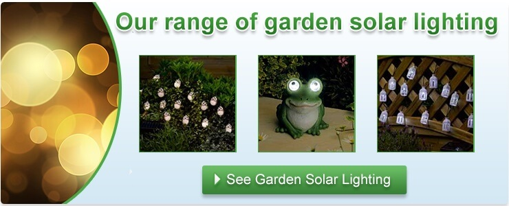 Range of garden solar lighting