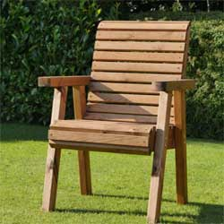 Handcrafted garden chair part of the Dale range of garden furniture