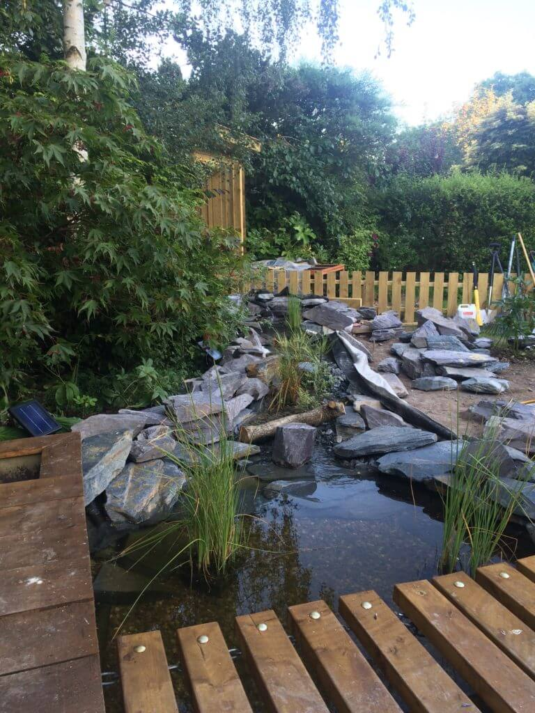 Epalyn 0.75mm pond liner supplied to customer and this is the pond he created
