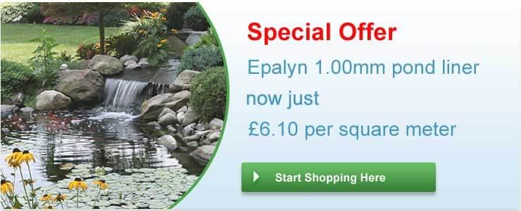 Epalyn 1.00mm pond liner summer 2019 special offer