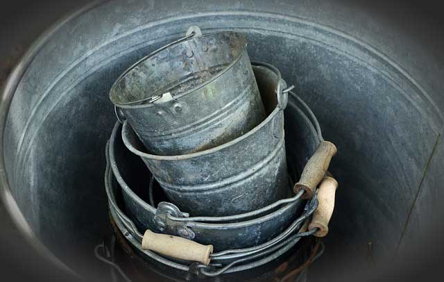 Old metal buckets can make a perfect wildlife pond