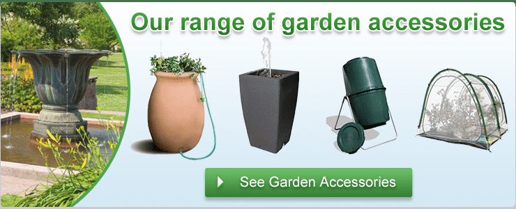 Garden accessories includes compost maker and rainwater butt as stocked by Liners Online