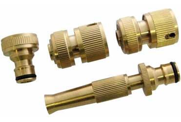 4 piece brass hosepipe connector set