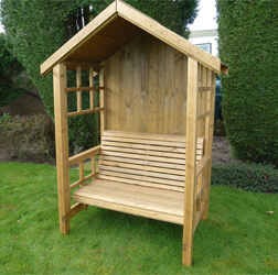 Redwood Arbour handcrafted to exquisite perfection