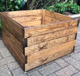 Redwood square planter